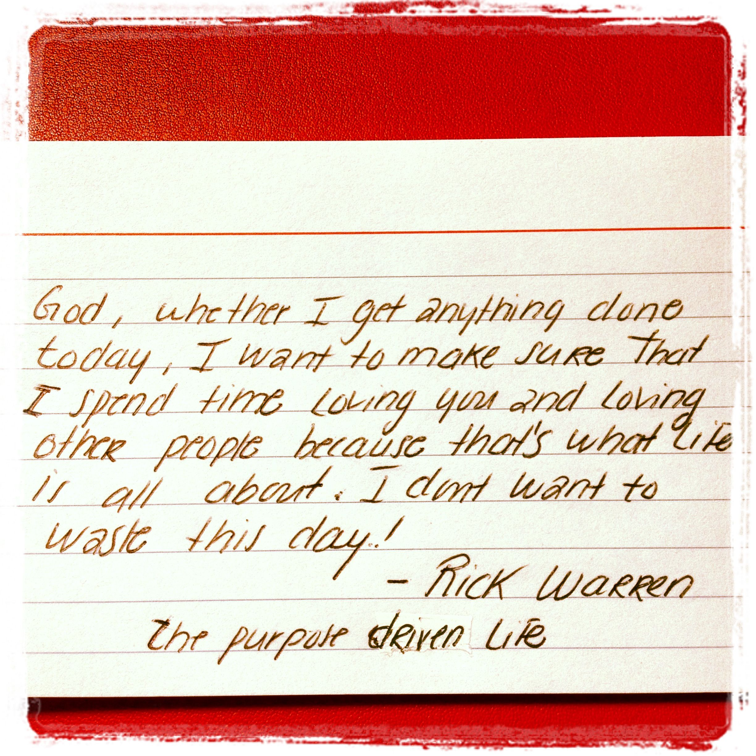 The Purpose Driven Life By Rick Warren An Amazing Book