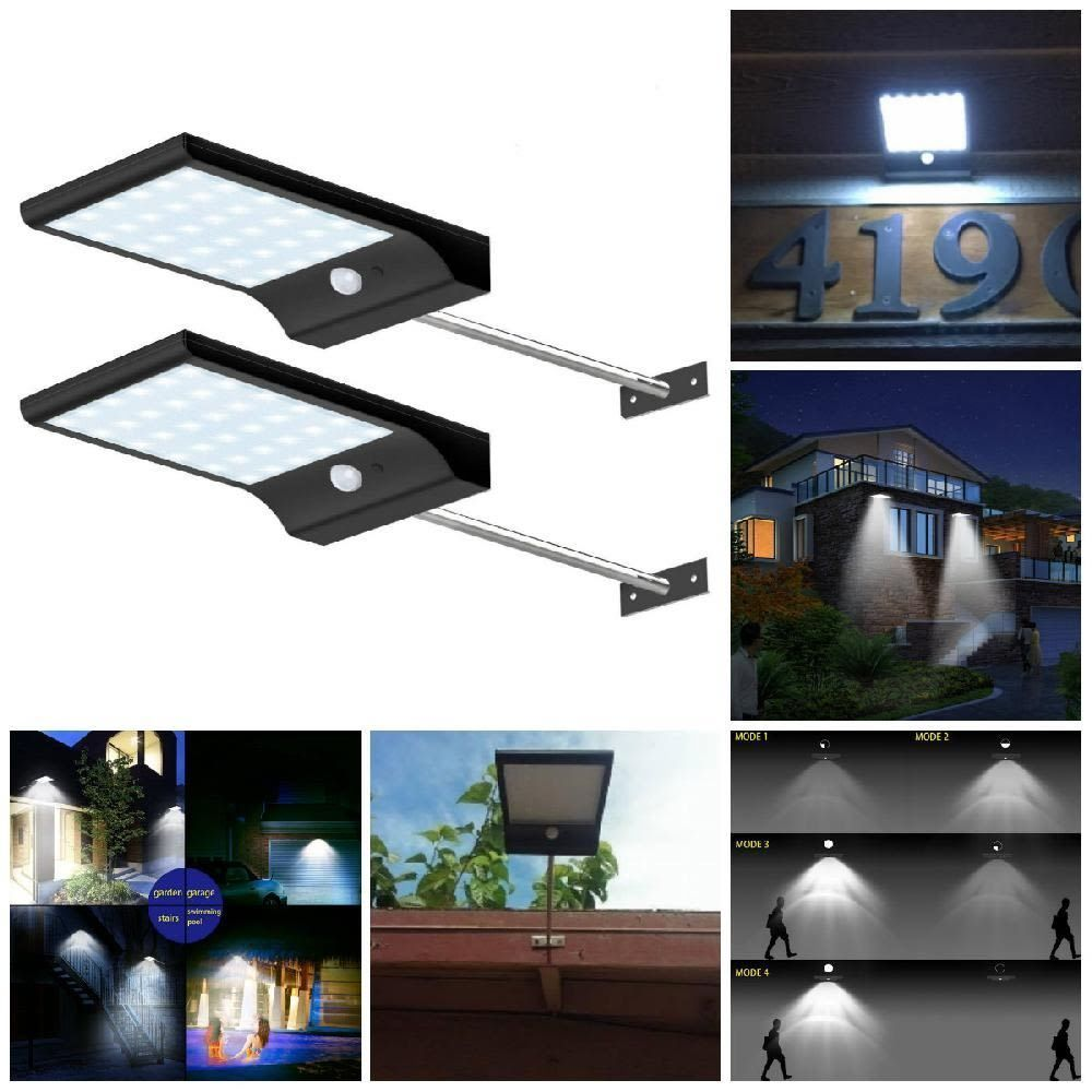 2 Parking Lot Led Light Solar Motion Sensor Outdoor