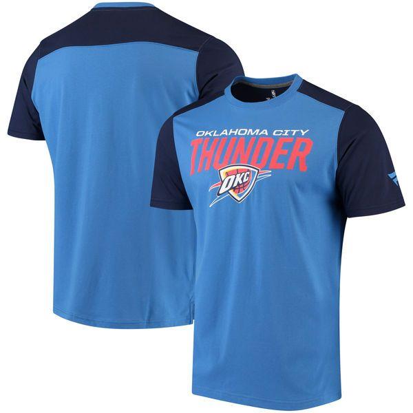 Oklahoma City Thunder Fanatics Branded Iconic T-Shirt - Blue/Navy - $29.99