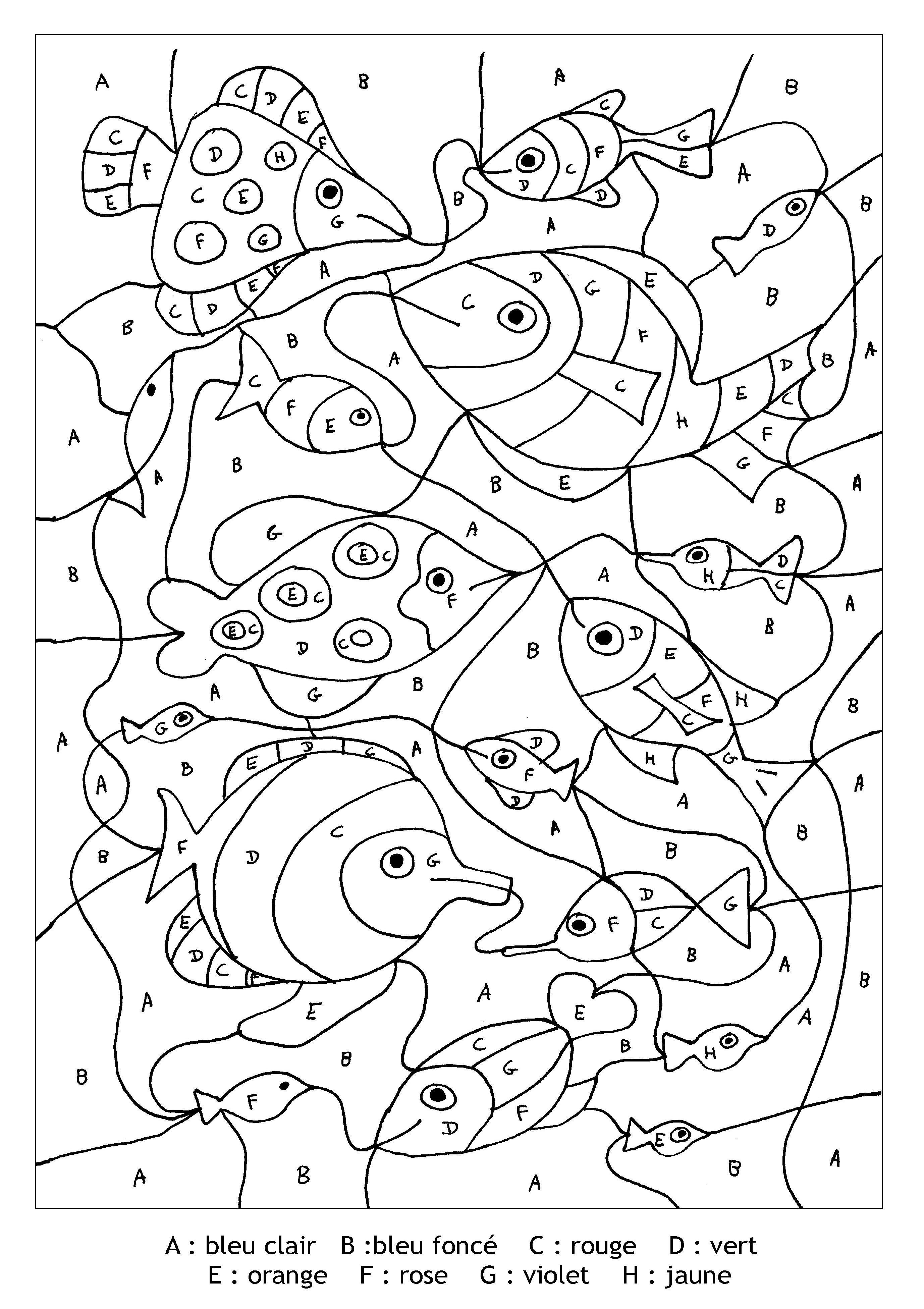 Pour imprimer ce coloriage gratuit coloriage magique - Coloriage a code ...