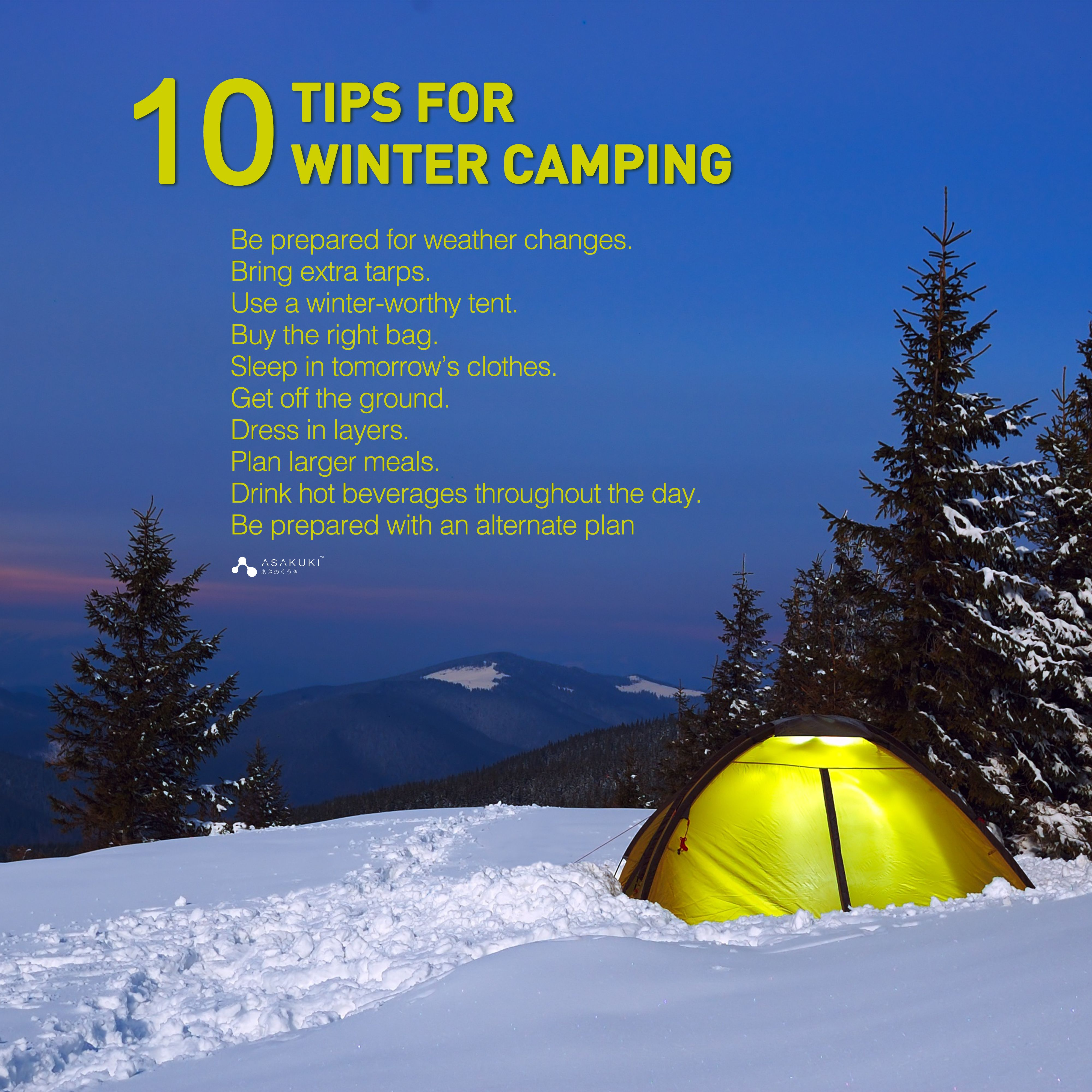 Do you have a plan for winter camping ? Come here, some ...