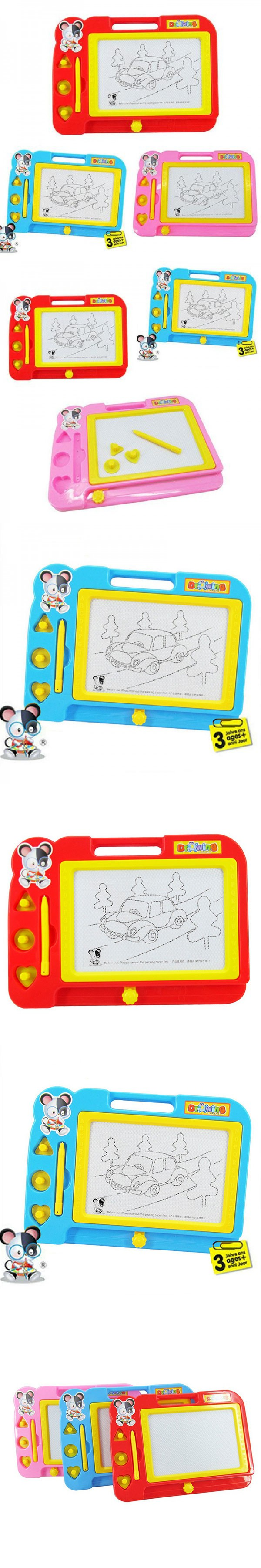 Magnetic craft board - Plastic Magnetic Drawing Board Sketcher Doodle Painting Fun Toy Craft Art For Kids Children Random Color