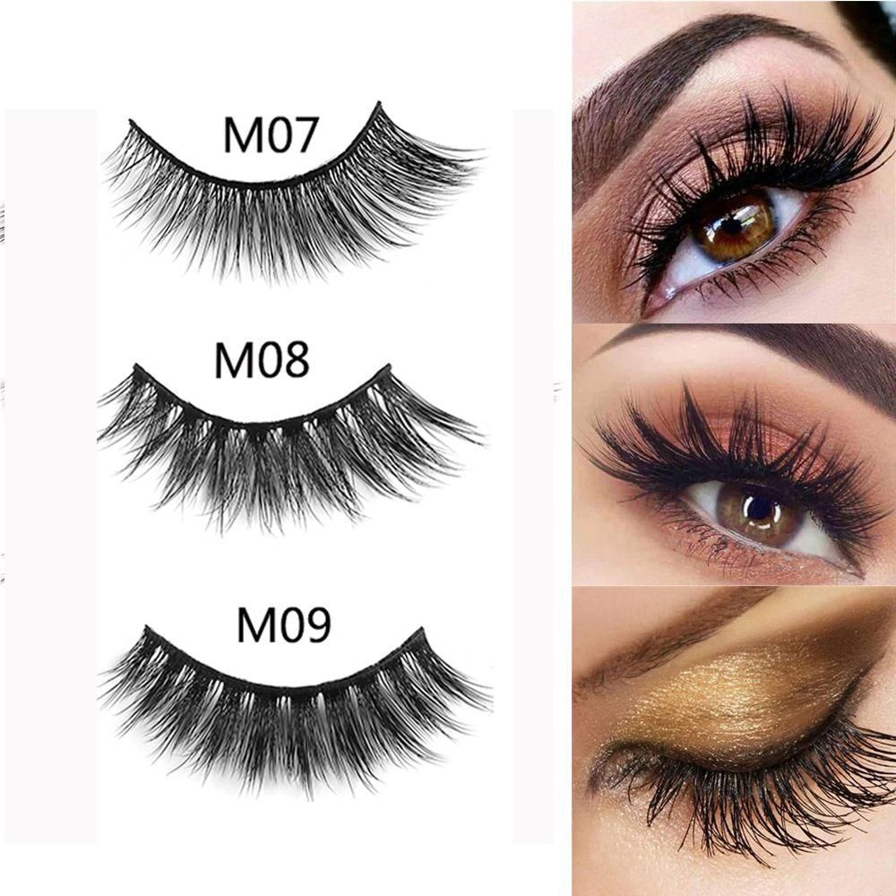 6a3697e737d 3D Mink Hair False Eyelashes Natural Thick Long Fluffy Wispy Handmade Mink  Lashes Extension Reusable 7 Styles #EyeLashesNatural
