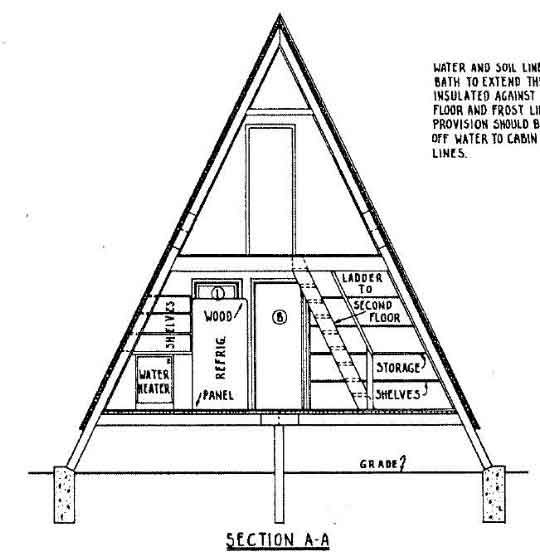 Free Plans For A 24 High A Frame Home A Frame House Plans Diy Cabin Cabin Plans