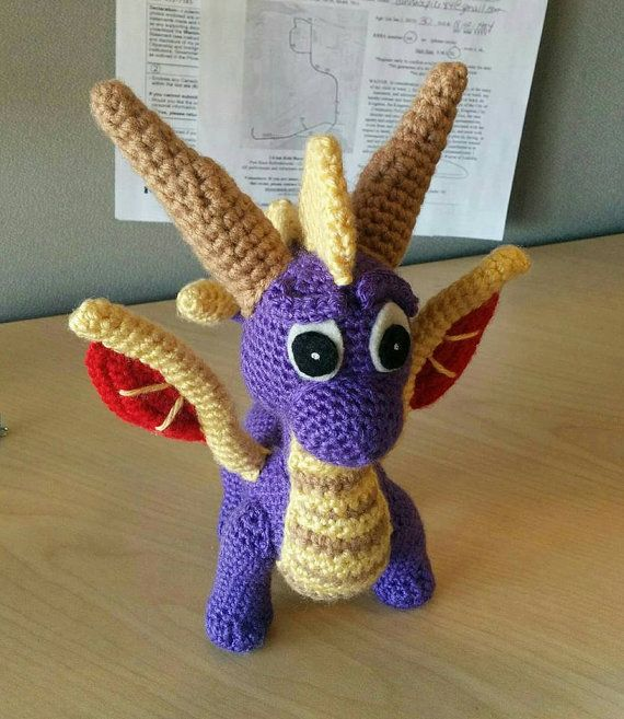 Crochet Pattern: Spyro and Ember Inspired Dragon Amigurumi PDF ... | 657x570