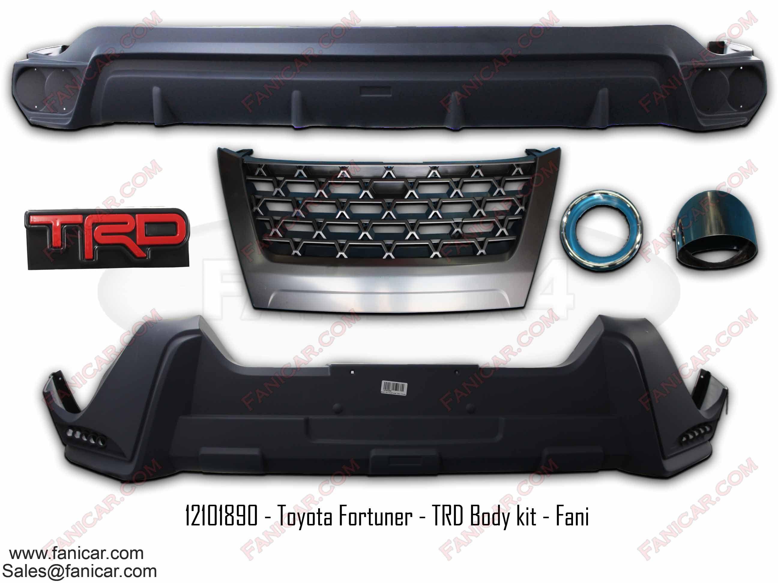 Toyota Fortuner TRD Body kit Fani 2017