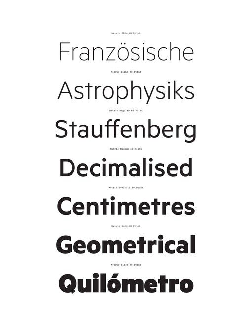 Klim Type Foundry. Metric & Calibre