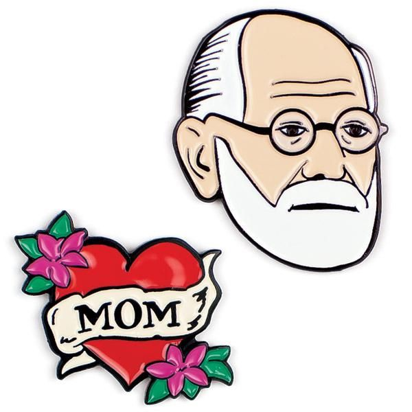 Freud & Mom Pins