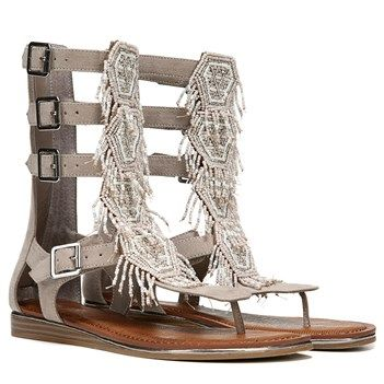 1c1f56e30114 Set the stage for a standout look with these Carlos Santana Taos beaded  gladiator sandals.