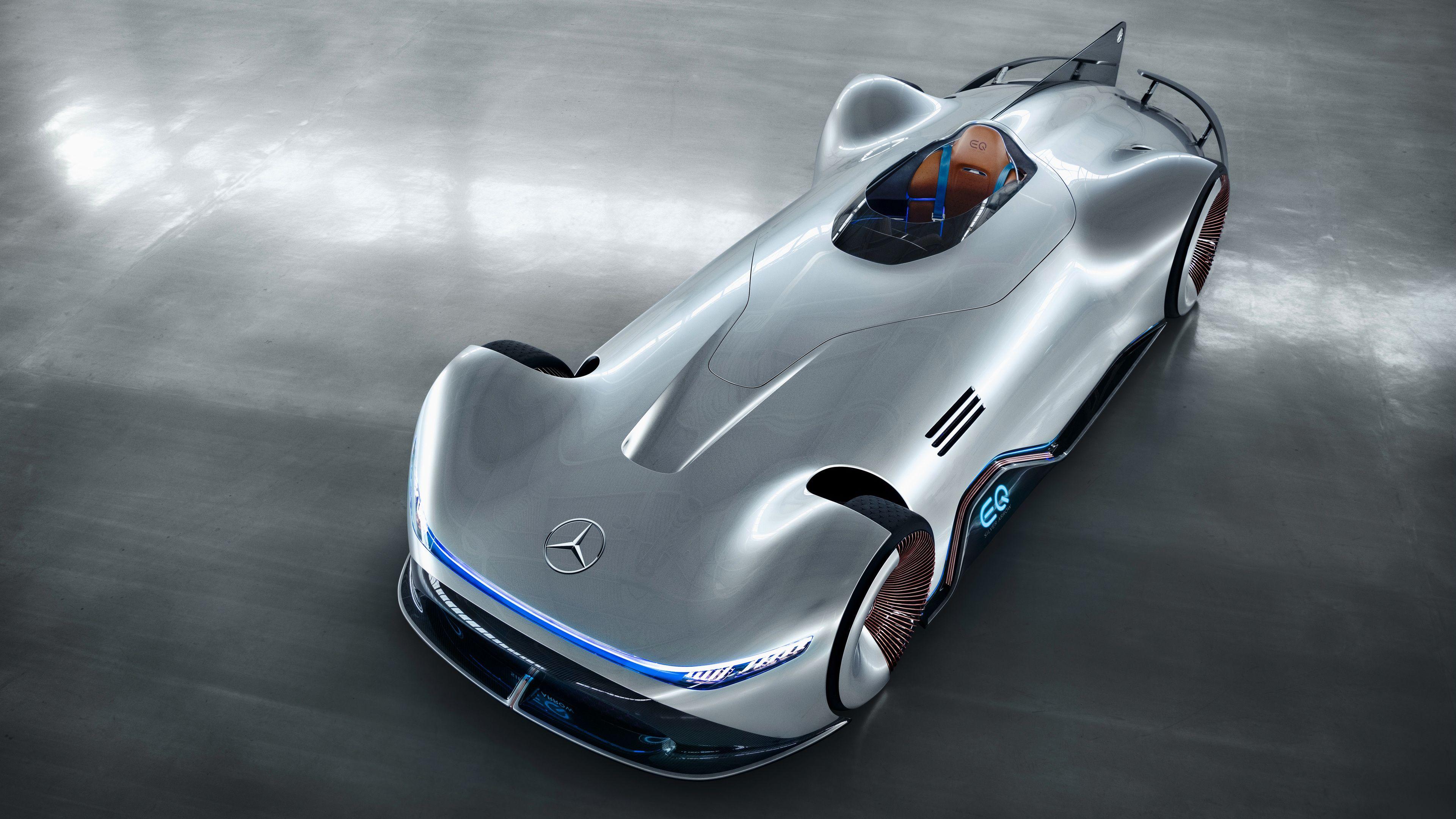 Mercedes Benz Vision Eq Silver Arrow 2018 4k Mercedes Benz Vision