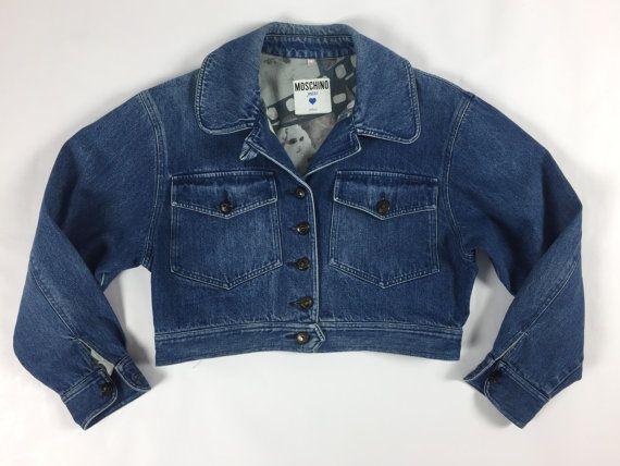 new concept 2c970 81200 Moschino jeans size 42 denim giacca giacchetta jacket ...