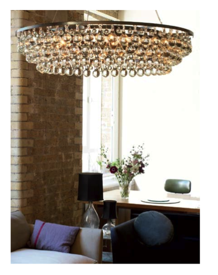 Glass Crystal Drop Chandeliers Ochre Lighting Interior Contemporary Furniture