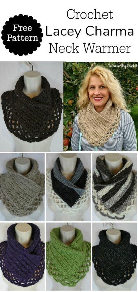 Crochet Lacey Charma Neck Warmer - Traversebaycrochet.com