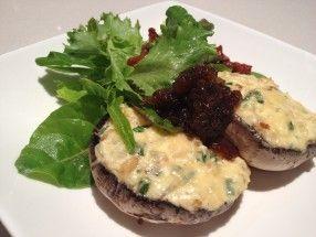 Stuffed Mushrooms - Ricotta, Spinach, Pine Nuts, Parmesan