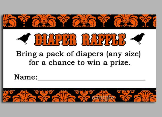 Halloween Diaper Raffle Ticket Printable by ThatPartyChick, $800 - free raffle templates