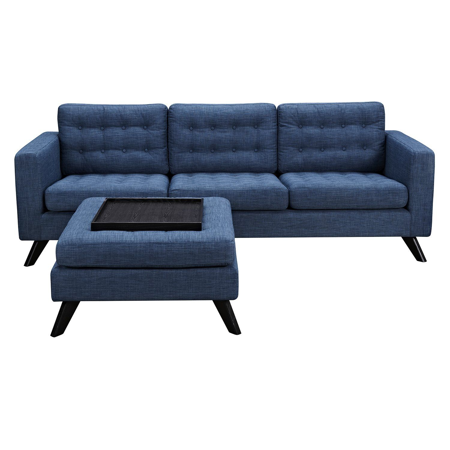 Best Mina Sofa And Ottoman Set In Tufted Stone Blue Fabric With 400 x 300