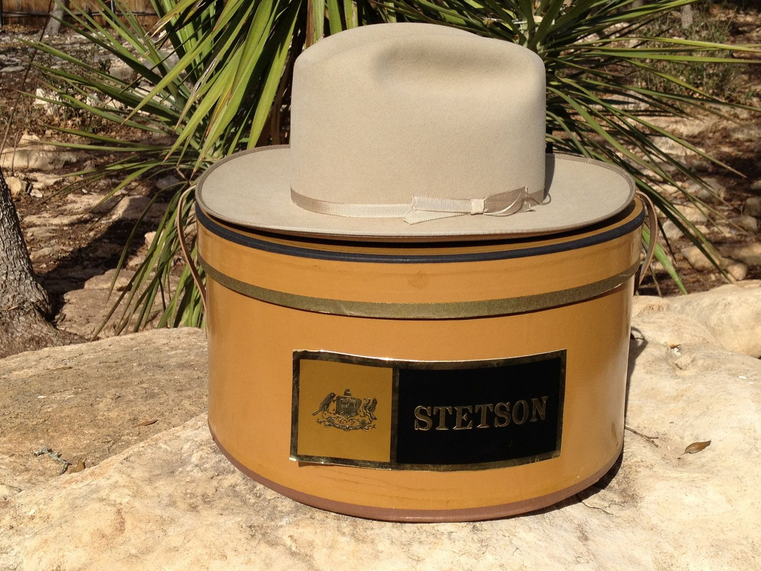 Vintage Stetson Cowboy Hat Open Road Size 6 3 4 With Hat Box Stetson Cowboy Hats Cowboy Hats Stetson