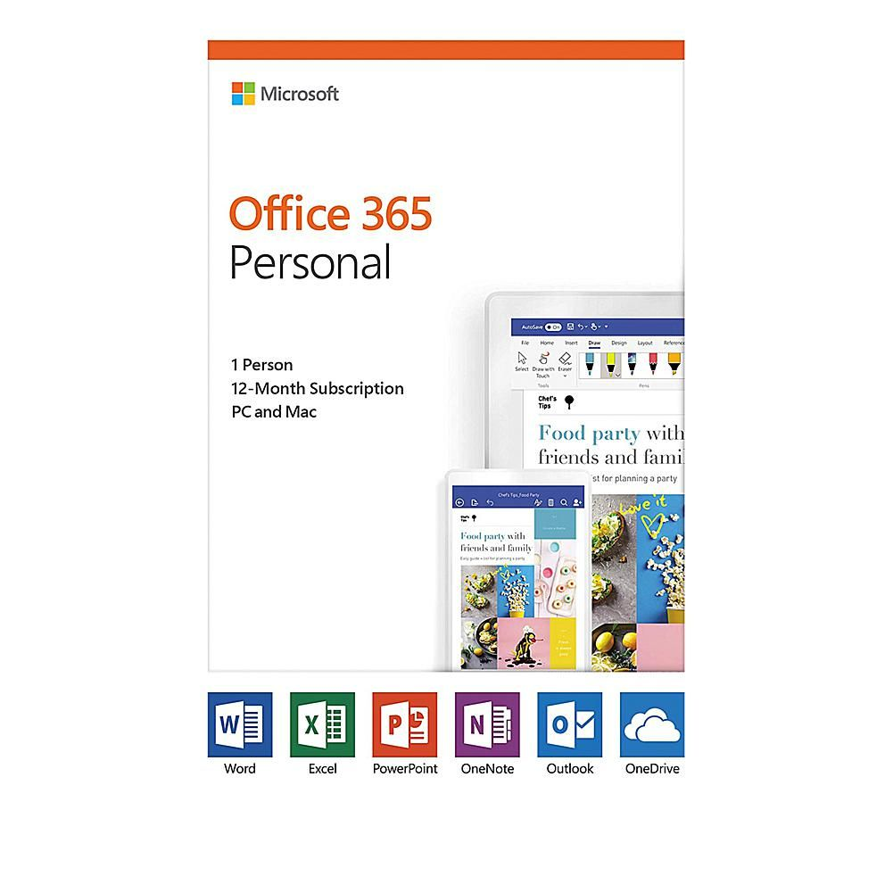 Microsoft Office 365 Personal 1 Year Subscription For Pc Or Mac 8870439 Office 365 Personal Office 365 Microsoft Office