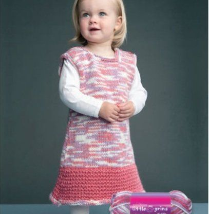 Free Knitting Patterns For Childrens Clothes : Free Knitting Pattern - Toddler & Childrens Clothes: Kids Dress...