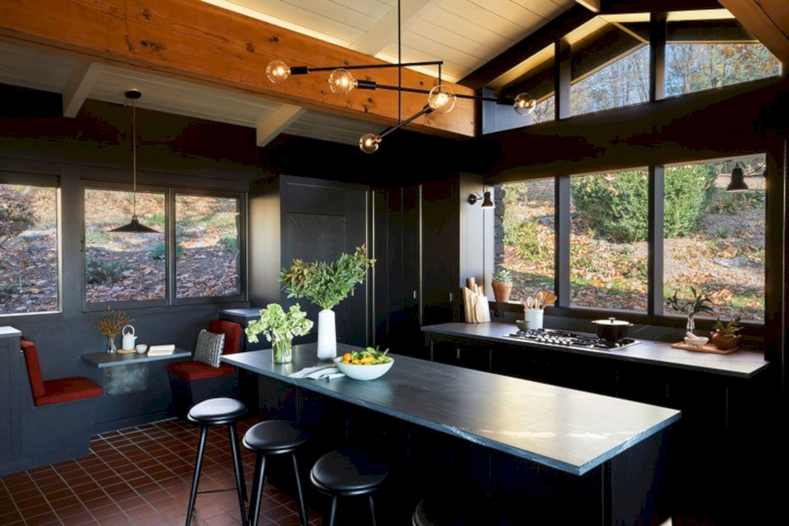 Hudson Valley: Before and After Mid-Century Home   Mid century ... on coastal home kitchens, champion home kitchens, riverview home kitchens, custom home kitchens, colonial home kitchens,