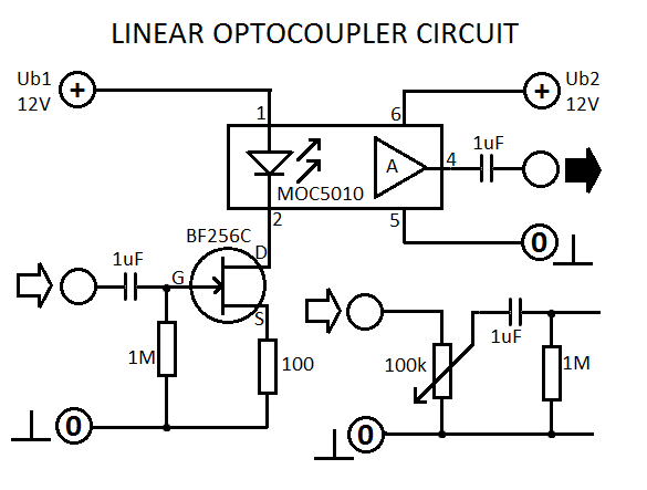 Linear ‪#‎OptoCoupler‬ circuit is an electronic device