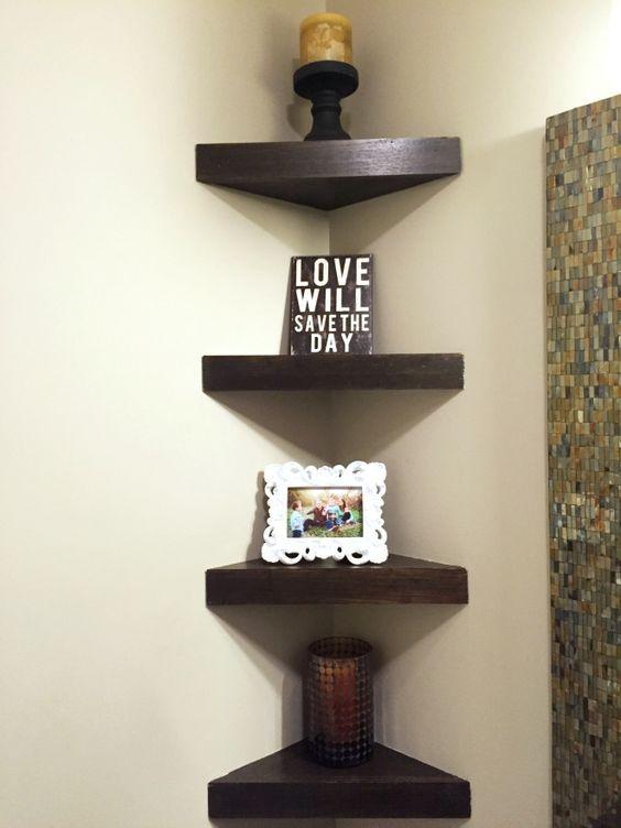 Corner Shelves Great For Small Bathrooms Rooms Corner Decor