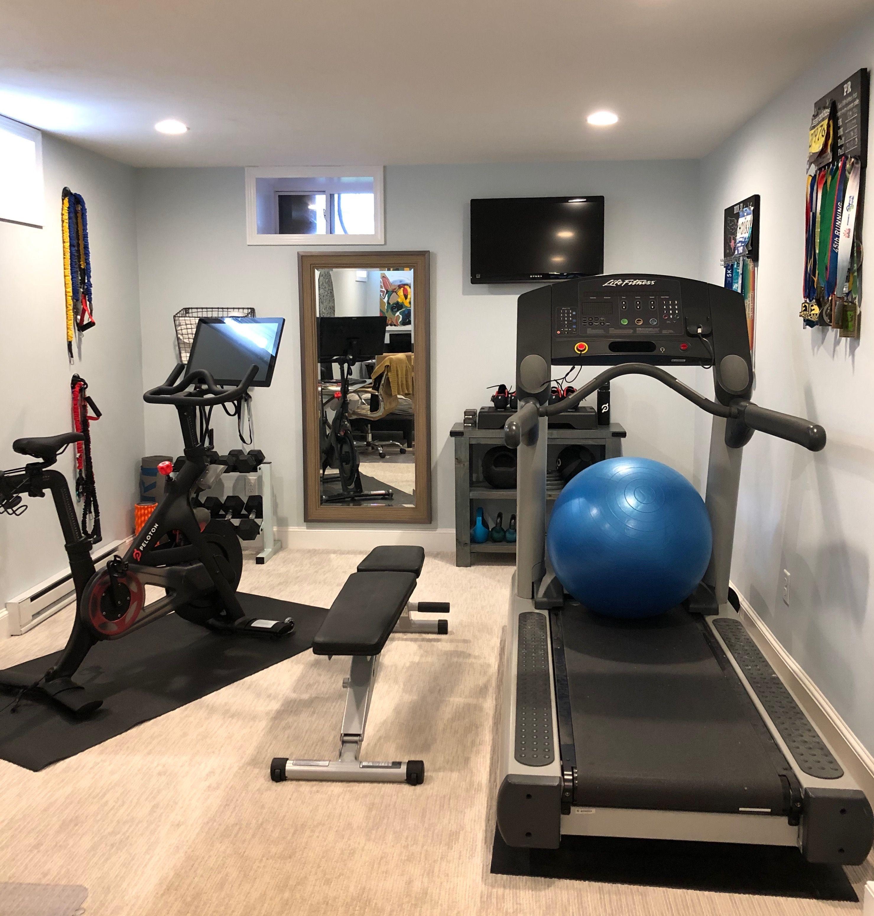 Home gym update homegym peloton diy home gym gym