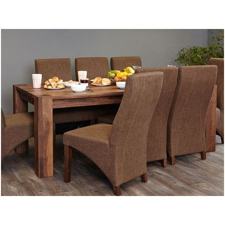 This Shiro Walnut Dining Table 6 To 8 Seater Has Chunky Legs Finish Off Is Ideal For The Kitchen And Seats