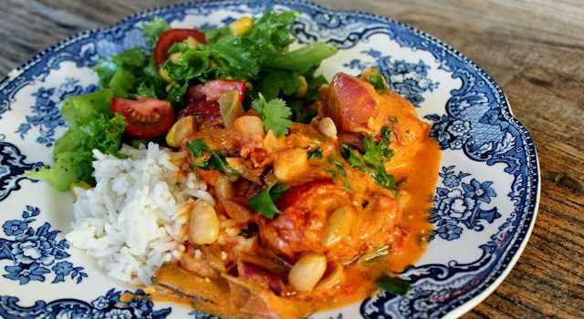 Namnam-kylling i kokosmelk og curry
