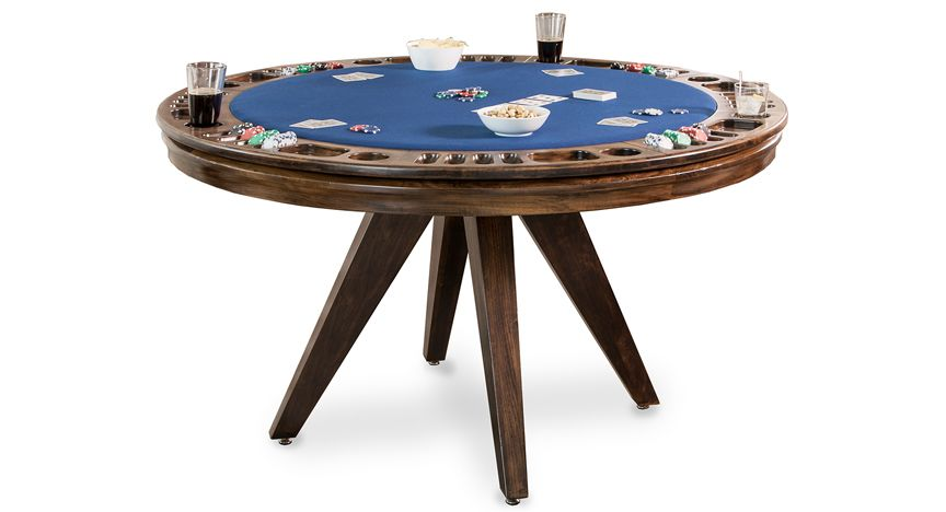 The City Reversible Top Game Table Is A Premium Solid Hardwood