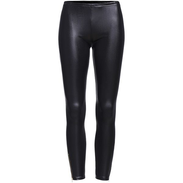 Elastic Waist Zipper Bottom Leggings (25.055 COP) ❤ liked on Polyvore featuring pants, leggings, black, stretch waist pants, stretch leggings, stretch waistband pants, zipper leggings and elastic waist trousers