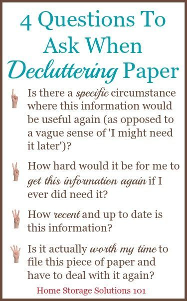 how to declutter your piles of paper decluttering storage and  4 questions to ask when decluttering paper so that you can get rid of the right