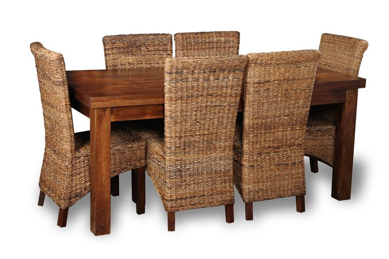 Dining table with rattan dining chairs | House Design | Pinterest ...