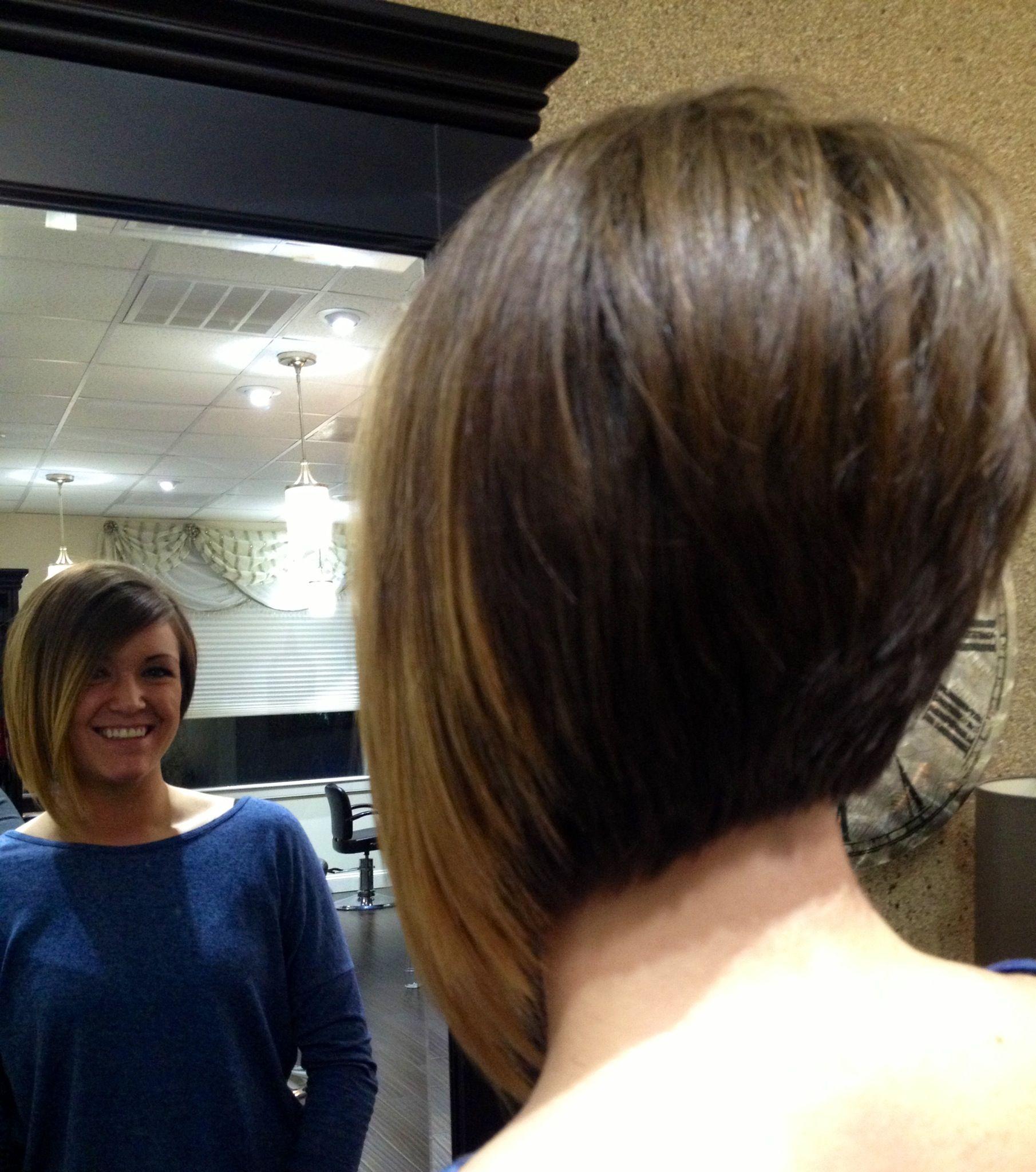 Short hair ombre asymmetrical By Vanessa Nelson