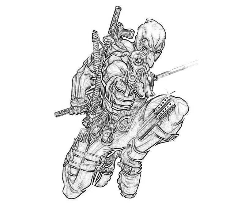 Deadpool Coloring Sheets