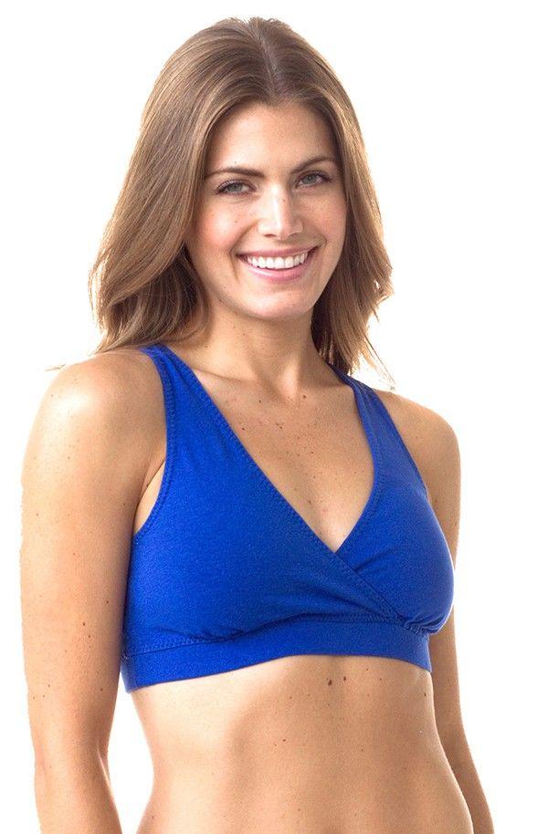 649d325a1e288 eco friendly bras   intimates    MAJAMAS    comfy organic cotton blue  racerback bra for everyday