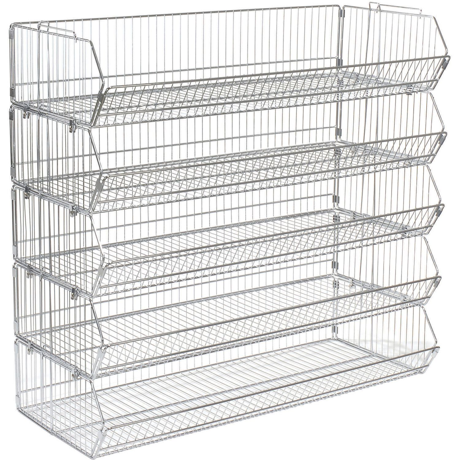 Bins, Totes & Containers | Bins-Shelving System | Stackable Wire ...