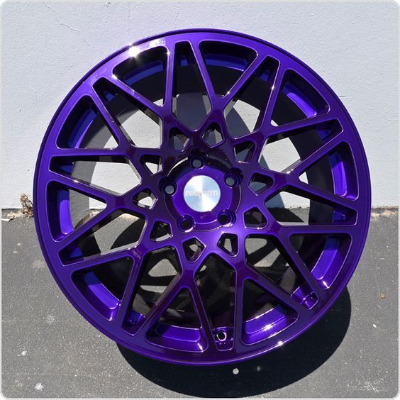 Purple Powder Coat Wheels Re Cookiemonster S Rims Photo Shoot