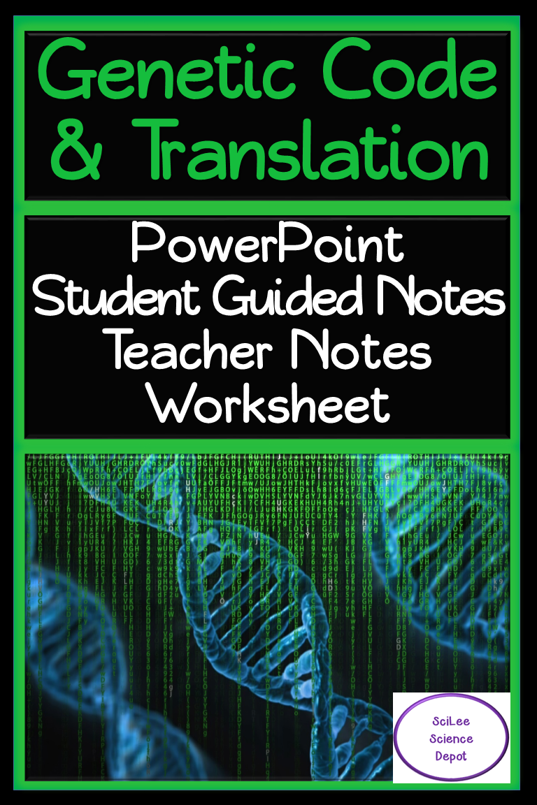 Code and Translation PowerPoint, Student Guided