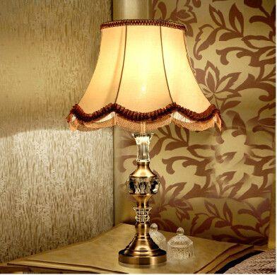 European Jade Warm Desk Lamps Bedroom
