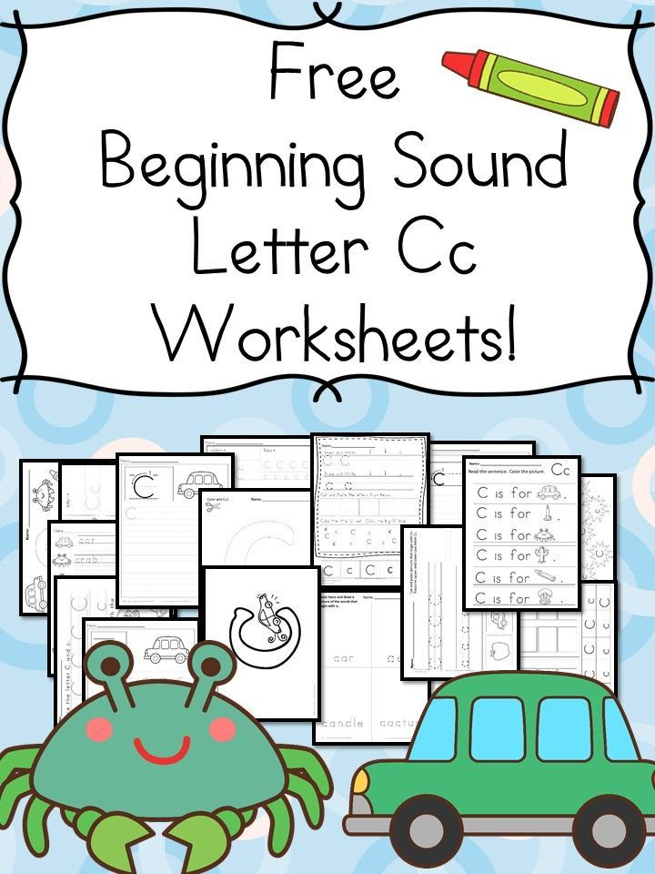 free beginning sounds letter c worksheets kindergarten activities worksheets and kindergarten. Black Bedroom Furniture Sets. Home Design Ideas