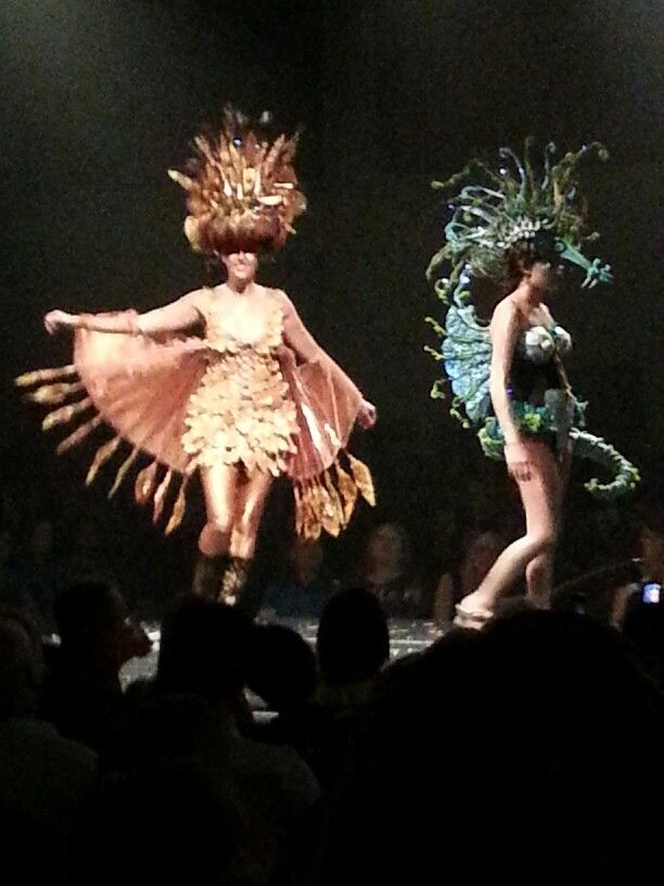 At wearable art fashion show