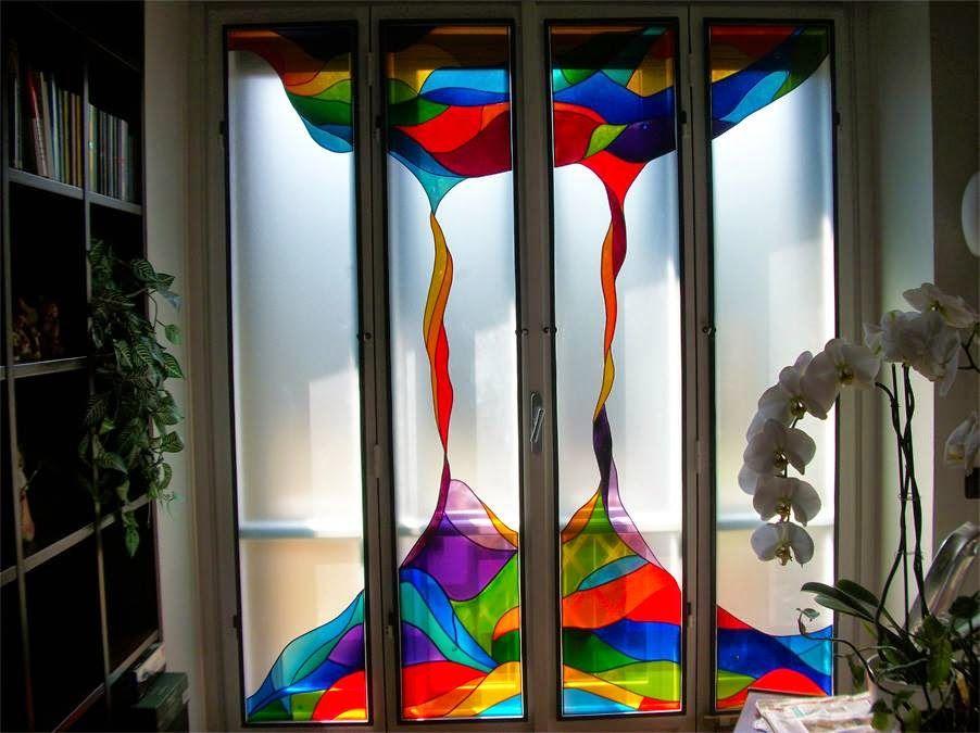 Rainbow Magma - portafinestra per casa privata.