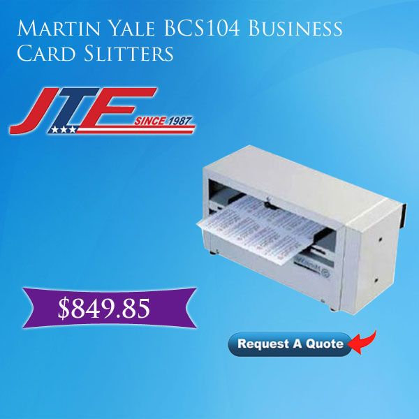 Martin yale bcs104 business card slitters martin yale bcs104 martin yale bcs104 business card slitter is designed to cut fast with precision that allows small business to create their business cards at cost effective colourmoves