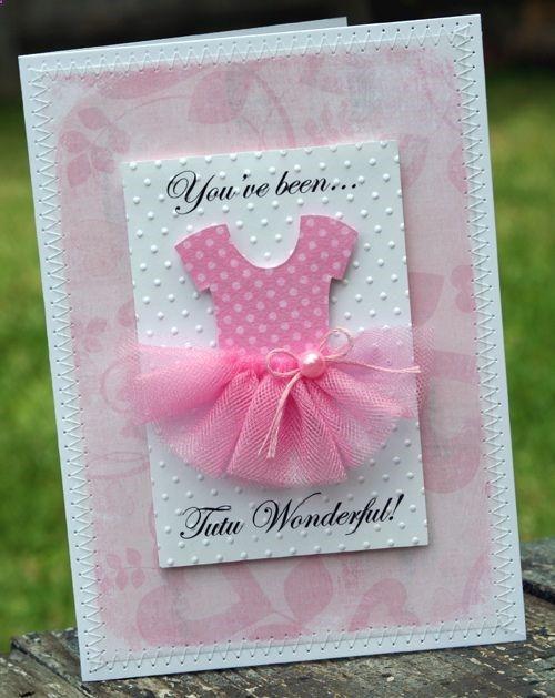 How cute for a little girl birthday card Cards Tags Pinterest