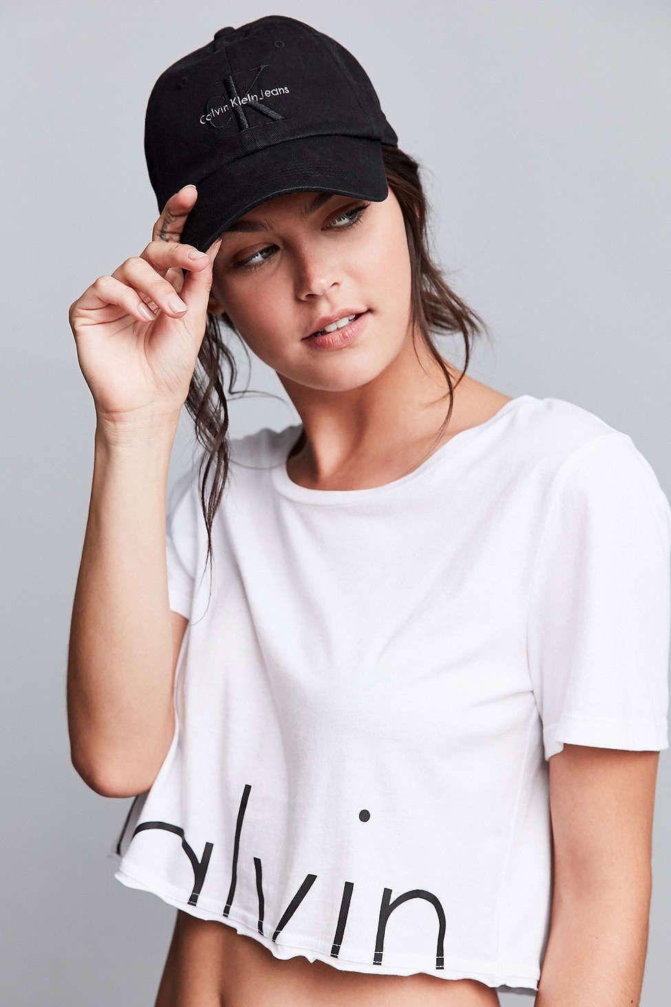Calvin Klein Canvas Baseball Hat - Urban Outfitters  27bc77c9458