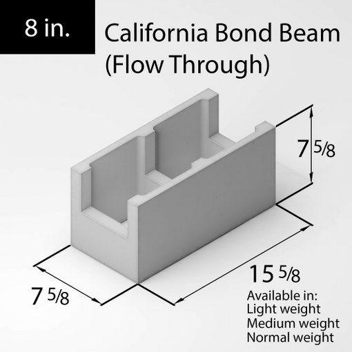 36 Block 8in California Bond Beam Flow Through