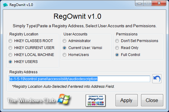 How To Take Full Ownership Of Windows Registry Keys Windows Registry Registry Windows