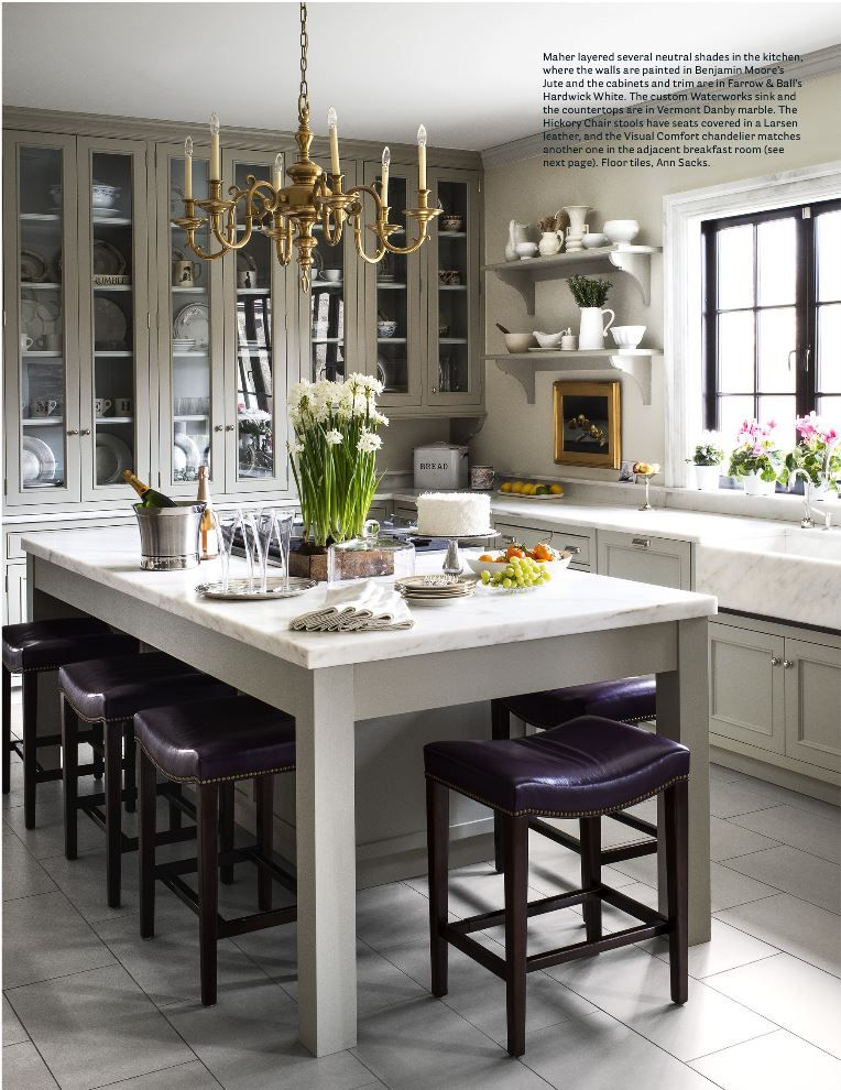 House Beautiful Magazine Michael Maher Designed Kitchen Benjamin