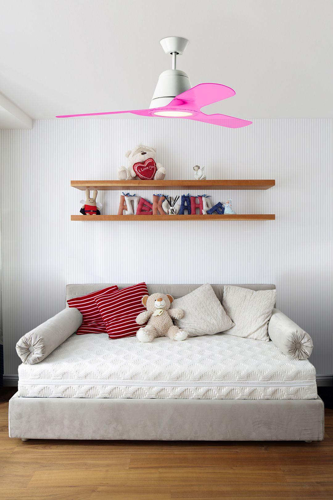 Ventilateur De Plafond Led Tiga De Leds C4 Pales Rose Mister